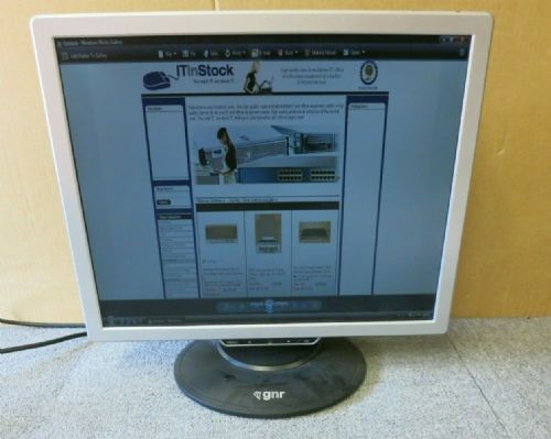 "GNR TS902 MR19E-AAAD 19"" LCD TFT Widescreen Monitor Built-In Speakers VGA DVI"